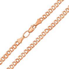 Акция на Цепь из красного золота с алмазной гранью 3 мм 000132689 55 размера от Zlato
