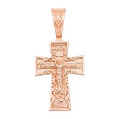 Акция на Православный крест из красного золота 000134062 от Zlato