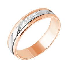Акция на Обручальное кольцо в комбинированном цвете золота с алмазной гранью 000000299 21 размера от Zlato