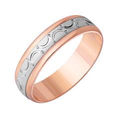 Акция на Обручальное кольцо в комбинированном цвете золота с алмазной гранью 000000330 000000330 22 размера от Zlato