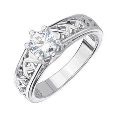 Акция на Серебряное кольцо с цирконием 000144044 16 размера от Zlato