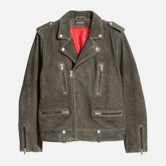 Акция на Куртка замшевая H&M 545020 XS Серая (2000001188842) от Rozetka