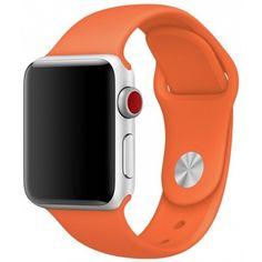 Акция на Силиконовый ремешок Sport Band для часов Apple Watch Orange 44 мм (S/M и M/L) - Оранжевый от Allo UA