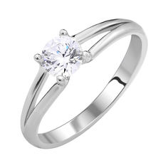 Акция на Серебряное кольцо с цирконием Swarovski 000103103 17.5 размера от Zlato