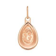 Акция на Ладанка Божья матерь с младенцем из красного золота 000106162 от Zlato