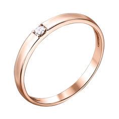 Акция на Кольцо из красного золота с бриллиантом 000103689 20.5 размера от Zlato