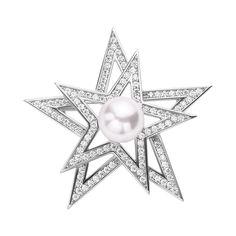 Акция на Серебряная брошь с замочком в форме сердечка, жемчугом и фианитами 000118248 от Zlato