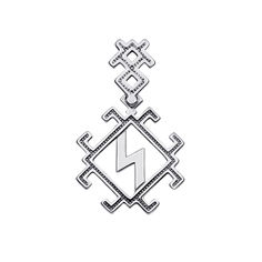 Акция на Серебряный кулон-оберег Молния-Перуница 000122158 от Zlato