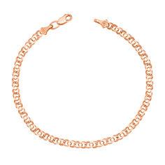 Акция на Золотой браслет Арабка в красном цвете в плетении арабский бисмарк 16.5 размера от Zlato