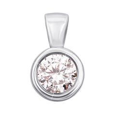 Акция на Кулон из белого золота с кристаллом Swarovski 000133277 000133277 от Zlato