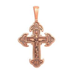 Акция на Православный крестик из красного золота с чернением 000133502 от Zlato