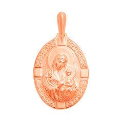 Акция на Ладанка из красного золота Богородица Неувядаемый Цвет 000130083 от Zlato