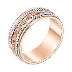 Акция на Золотое обручальное кольцо Предложение в комбинированном цвете с косичкой 21 размера от Zlato