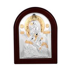 Акция на Икона Божия Матерь Владимирская с серебром и позолотой 000140129 от Zlato