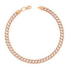 Акция на Золотой браслет в комбинированном цвете 000113454 21 размера от Zlato
