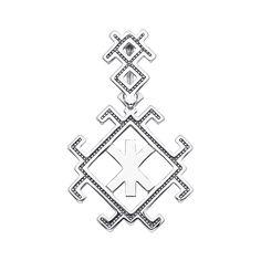 Акция на Серебряная подвеска-оберег Руна Жива 000134347 от Zlato
