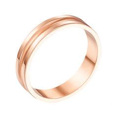 Акция на Обручальное кольцо из красного золота 000000369 18 размера от Zlato
