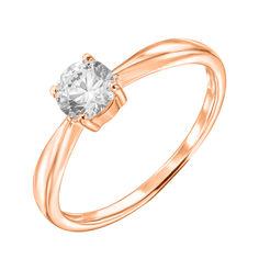 Акция на Кольцо из красного золота с кристаллом Swarovski 000122291 17.5 размера от Zlato