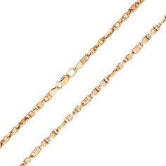 Акция на Цепочка из красного золота в фантазийном плетении, 3,2мм 000121589 55 размера от Zlato