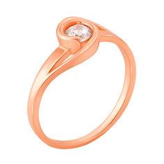 Акция на Золотое кольцо Кэнди в красном цвете с фианитом 16.5 размера от Zlato