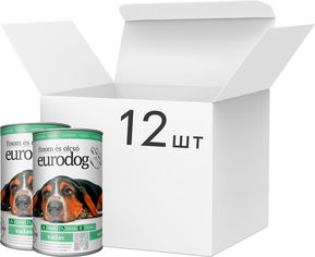 Акция на Упаковка влажного корма EuroDog для взрослых собак всех пород с олениной 12 шт по 1240 г (5999886848026) от Rozetka