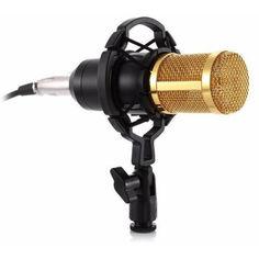 Акция на Комплект Конденсаторный микрофон ZEEPIN BM-800 BLACK GOLD + Звуковая карта DYNAMODE C-MEDIA 7.1 от Allo UA