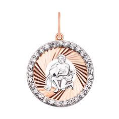 Акция на Подвеска Водолей из комбинированного золота с фианитами 000130744 от Zlato