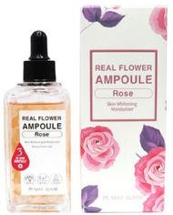 Акция на Осветляющая ампульная сыворотка с розой May Island Real Flower Ampoule Rose 100 мл (8809515400488) от Rozetka
