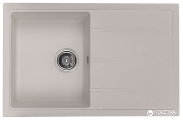 Акция на Кухонная мойка GRANADO Toledo white (2105) + сифон одинарный для кухонной мойки Nova с эксцентриком от Rozetka