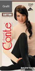 Акция на Колготки Conte из хлопка Cotton 250 Den 4 р Grafit -4811473032513 от Rozetka
