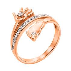 Акция на Кольцо из красного золота  с цирконием 000104575 19.5 размера от Zlato