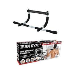 Акция на Турник для дома Айрон джим брусья Iron Gym тренажер в дверной проём! от Allo UA
