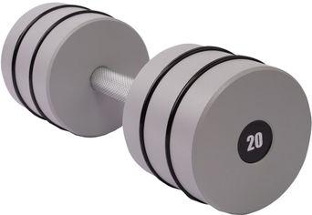 Акция на Гантель цельная Champion 20 кг с амортизирующими резинками (CHM00414-20) от Rozetka