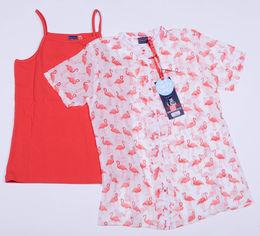 Акция на Костюм (рубашка + майка) Tom-Du ZOE 92-98 см Бело-светлый с коралловым (2000000009058) от Rozetka