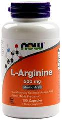 Акция на Аминокислота Now Foods L-Аргинин 500 мг 100 капсул (733739000309) от Rozetka
