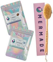 Акция на Набор Mermade Щетка для сухого массажа + Скрабы для тела Magnesium и Espresso 100 г (2000000223346) от Rozetka