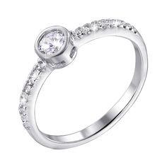 Акция на Серебряное кольцо с фианитами 000125219 15 размера от Zlato