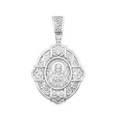 Акция на Серебряная ладанка Божия Матерь Знамение 000147489 от Zlato