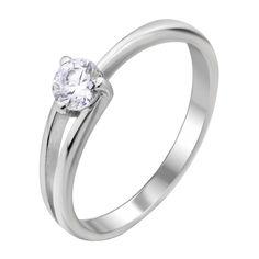 Акция на Серебряное кольцо с цирконием Swarovski 000103121 17 размера от Zlato