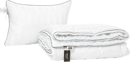 Акция на Набор антиаллергенный MirSon Eco Silk Деми Royal Pearl Hand Made №4065 одеяло 140х205 + подушка 50х70 упругая (2200001813755) от Rozetka