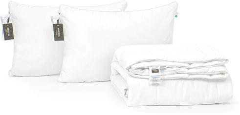 """Акция на Набор с шерстяным волокном Mirson Лето """"Luxury Exclusive"""" №3820 одеяло 172x205 см + 2 подушки 50х70 см мягкие (2200002353144) от Rozetka"""