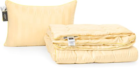 "Акция на Набор из хлопкового волокна MirSon Деми ""Carmela Hand Made"" №3233 одеяло 140x205 см + подушка 50x70 см мягкая (2200002278027) от Rozetka"