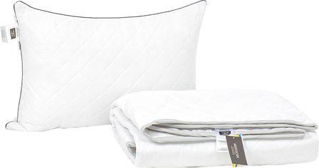 Акция на Набор антиаллергенный MirSon Eco Silk Лето Royal Pearl №4146 одеяло 140х205 + подушка 50х70 упругая (2200001811263) от Rozetka