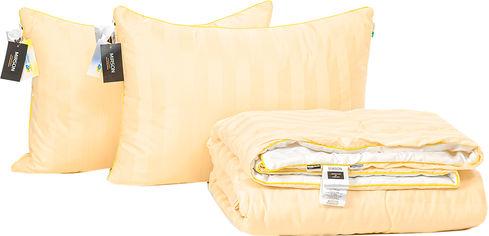 Акция на Набор антиаллергенный MirSon Eco Silk Лето Carmela Hand Made №4104 одеяло 200х220 + 2 подушки 50х70 упругие (2200001811812) от Rozetka