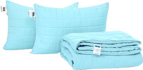 Акция на Набор антиаллергенный MirSon Eco Silk Лето Valentino №4126 одеяло 220х240 + 2 подушки 50х70 мягкие (2200001813069) от Rozetka