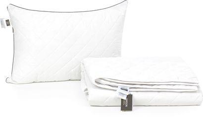 "Акция на Набор из хлопкового волокна MirSon Лето ""Bianco - Royal Pearl"" №3133 одеяло 140x205 см + подушка 50x70 см мягкая (2200002285087) от Rozetka"
