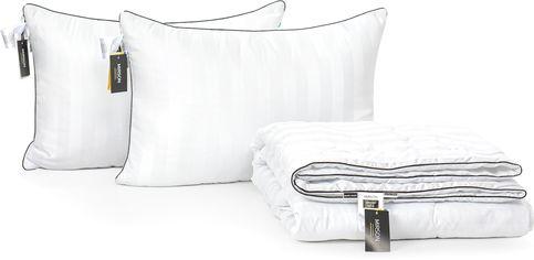 "Акция на Набор из хлопкового волокна MirSon Лето ""Royal Pearl Hand Made"" №3250 одеяло 200x220 см + 2 подушки 50x70 см мягкие (2200002288095) от Rozetka"