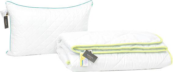 Акция на Набор антиаллергенный MirSon Eco Silk Деми Eco №4004 одеяло 140х205 + подушка 50х70 средняя (2200001813533) от Rozetka