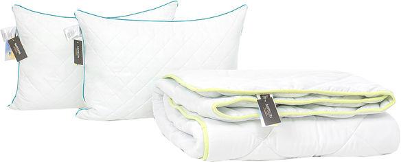 Акция на Набор антиаллергенный MirSon Eco Silk Зима Eco №4408 одеяло 172х205 + 2 подушки 50х70 средние (2200001818095) от Rozetka