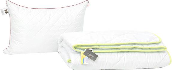 Акция на Набор антиаллергенный MirSon Eco Silk Деми Eco Silver №4006 одеяло 200х220 + 2 подушки 50х70 средние (2200001814509) от Rozetka